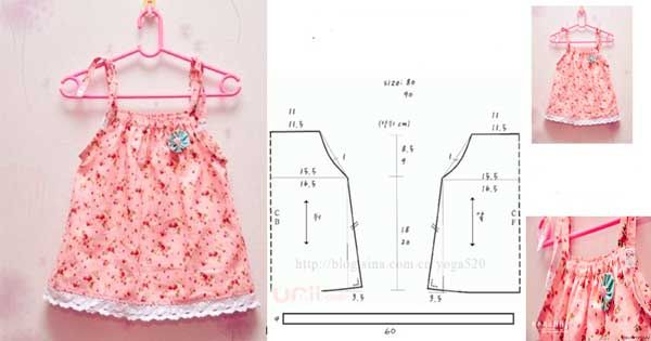Vestido para bebe facil