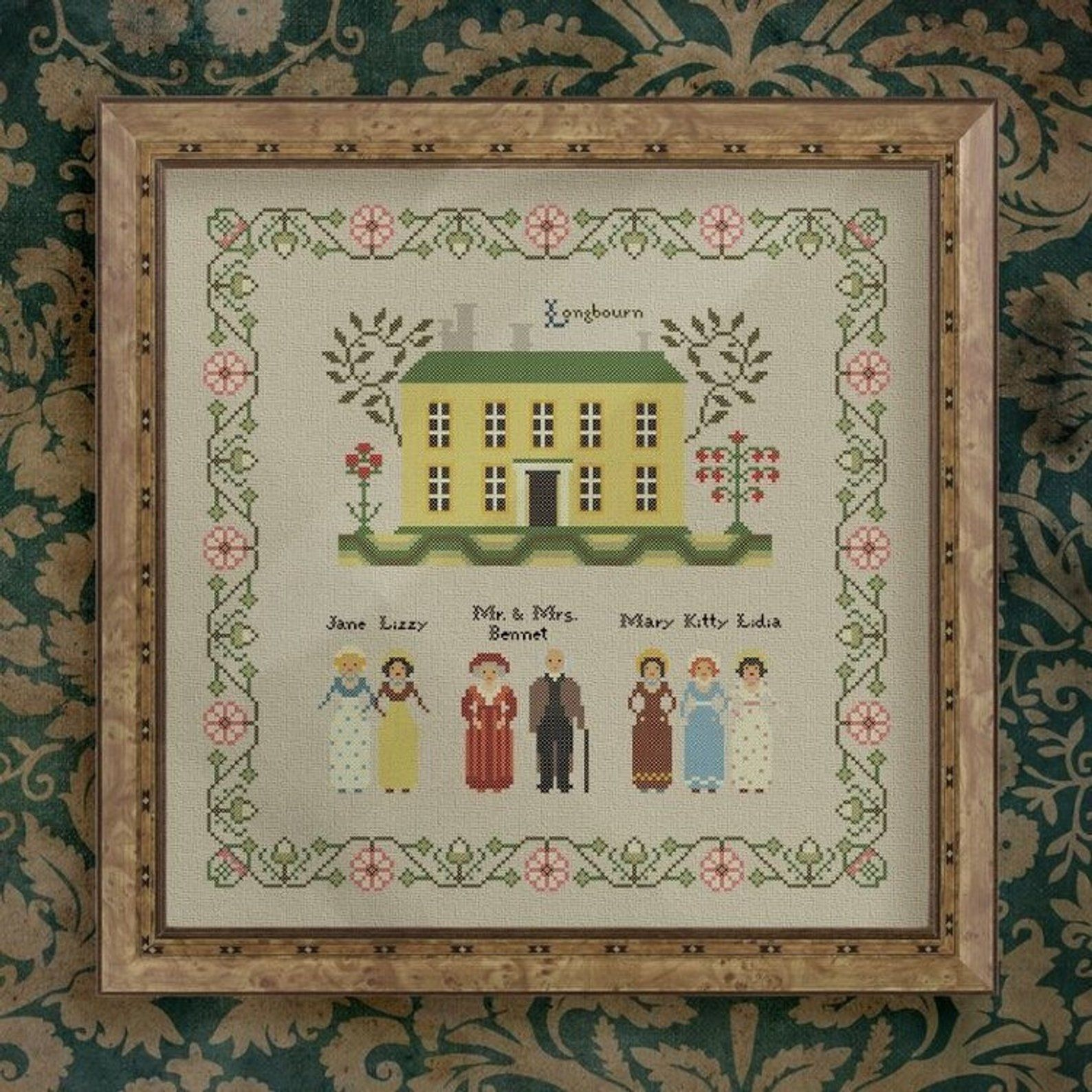 Cross Stitch Pattern Embroidery Pattern Primitives Pride And