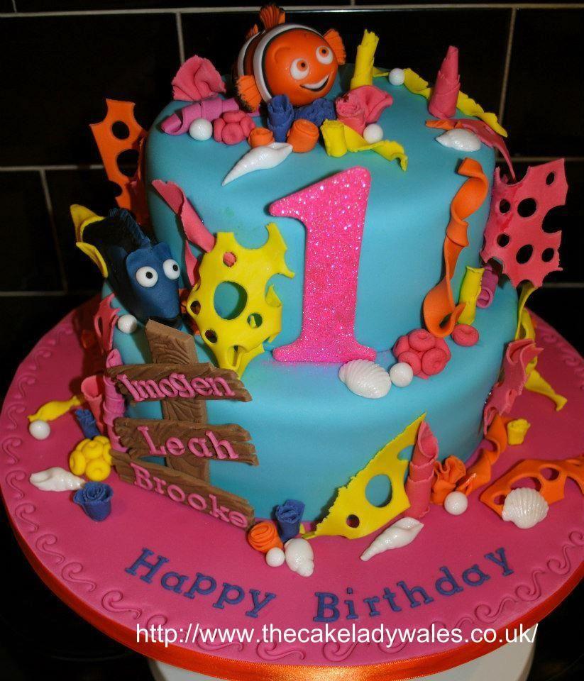 Finding Nemo Birthday Cake Finding nemo cake, Nemo cake