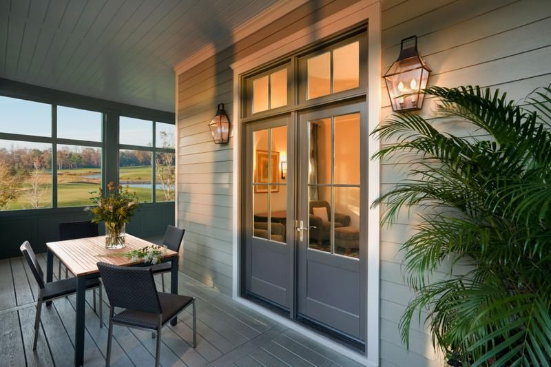 Jeld-wen - Wood Double-Swinging Patio Doors with matching Transoms ...