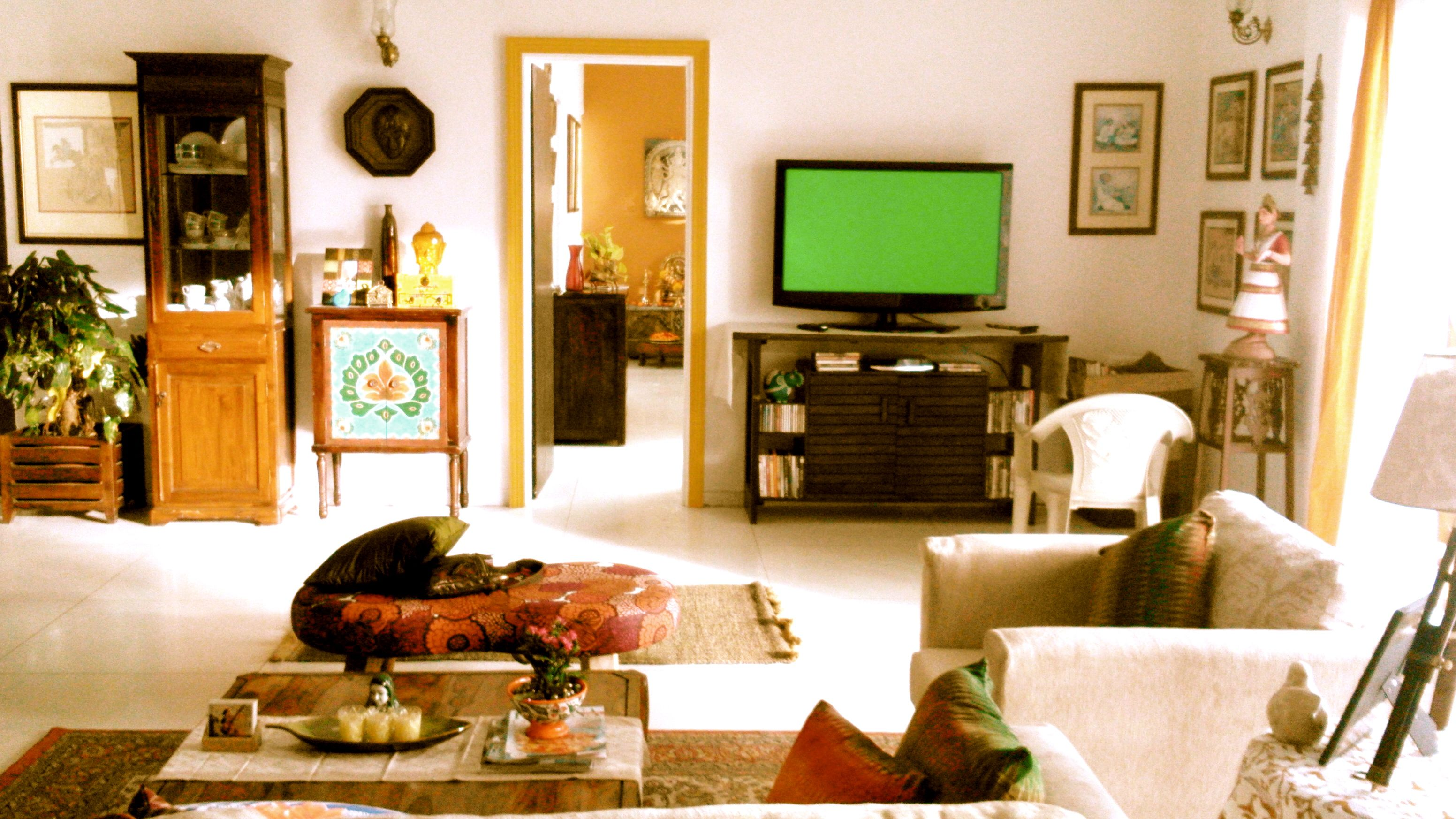 bright, indian living room, designed and styledniyoti