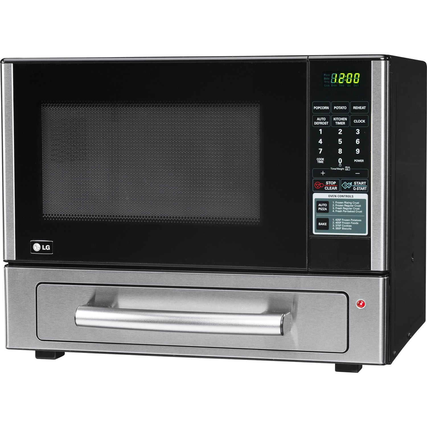 Lg 1 1 Cu Ft 1000w Countertop Microwave And Pizza Oven Combo