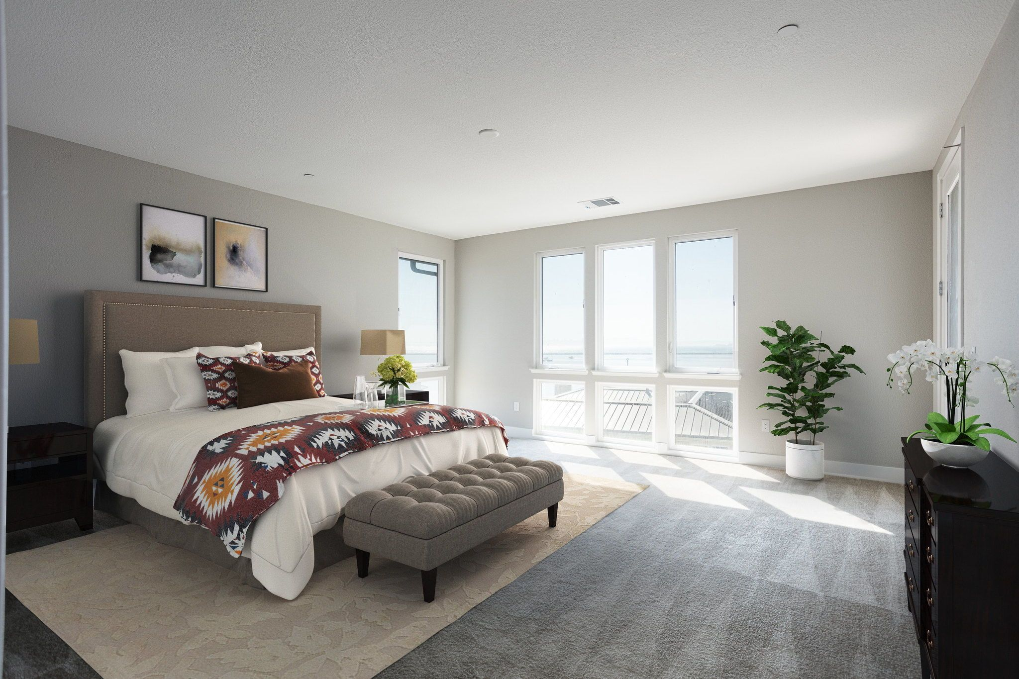 Waterline in Point Richmond, CA by Shea Homes | Residence 4 Master Bedroom #SheaHomes #SheaHomesNorCal #SheaHomeowners #SheaNorCal #LiveTheSheaDifference #NorCalHomes #NorCalRealEstate #BayAreaRealEstate #BayAreaNewHomes #HomeDesignInspiration #HomeInspiration #Waterline #PointRichmond Sales: Shea Homes Marketing Company (CalDRE #01378646); Construction: Shea Homes Limited Partnership (CSLB #855368). Equal Housing Opportunity.