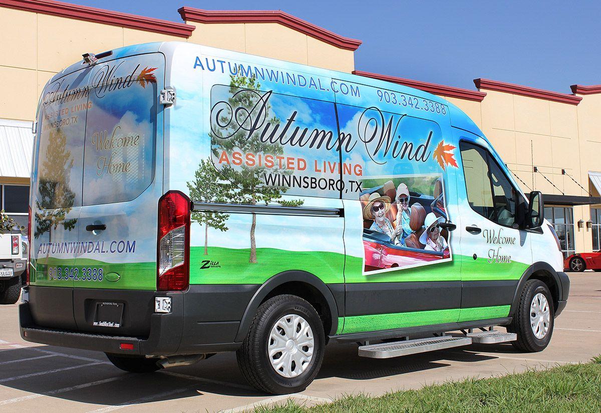 Assisted Living Shuttle Wrap Dallas Bus wrap, Shuttling