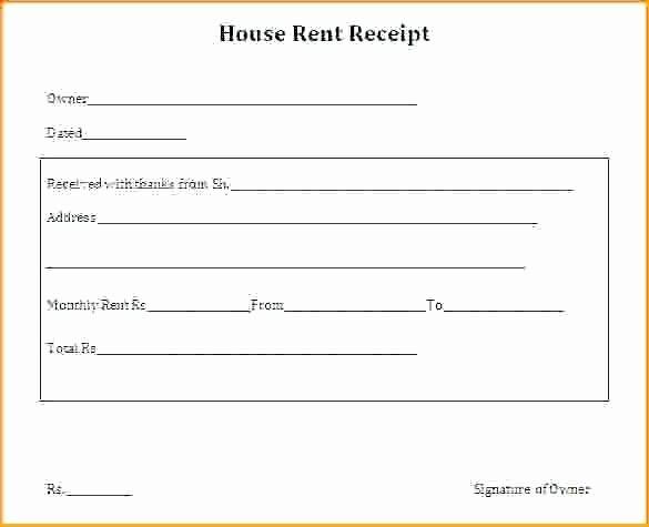 Landlord Rent Receipt Template India
