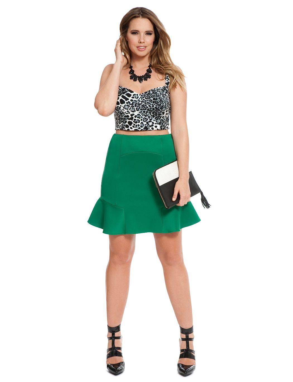 2cfea84c8d Plus Size Leopard Skater Skirt