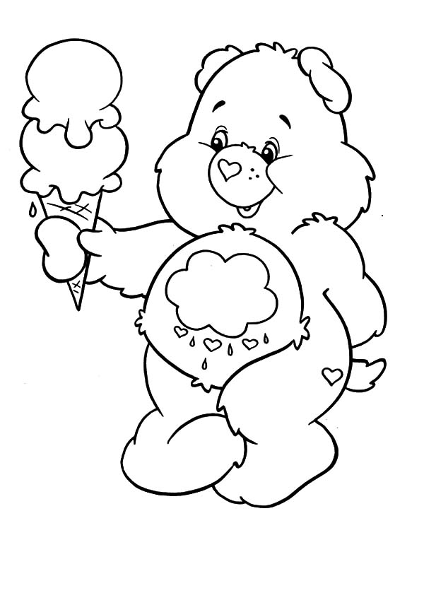 Care Bears Melting Ice Cream Coloring Pages Best Place To Color In 2020 Bear Coloring Pages Ice Cream Coloring Pages Cool Coloring Pages