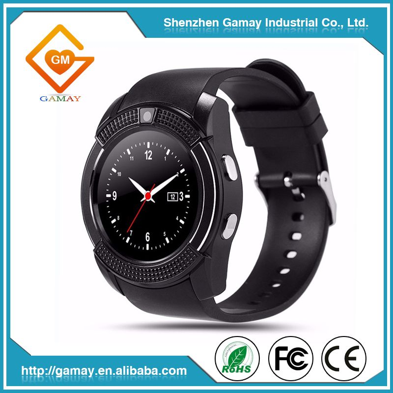 2016 Hot Selling V8 Bluetooth Firmware Download Smart Watch Mobile