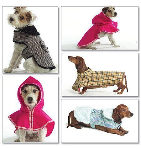 Butterick 4885 Dog Coat Dog Jacket Pet Jacket Sewing Pattern