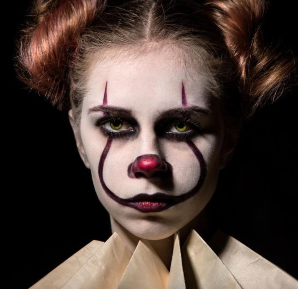 maquillage facile pour halloween femme pennywise clown
