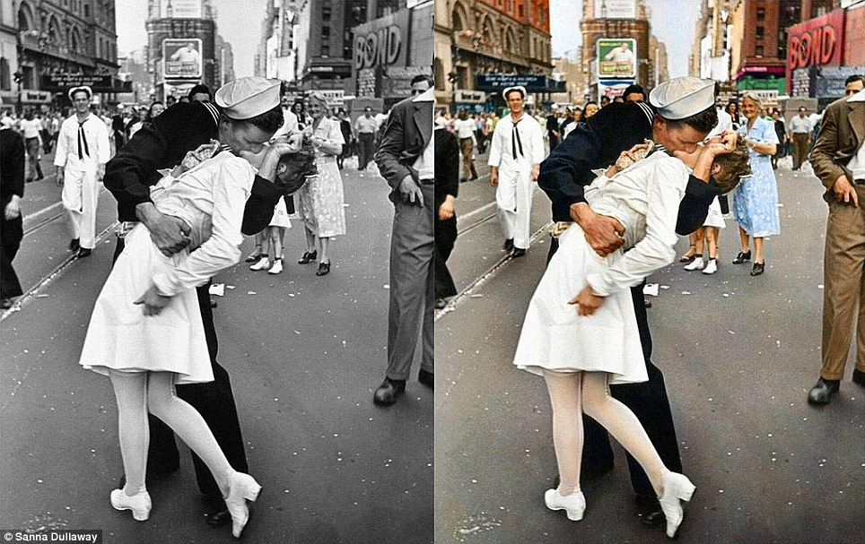 Swedish artist sanna dullaway transforms black and white photos into history in color