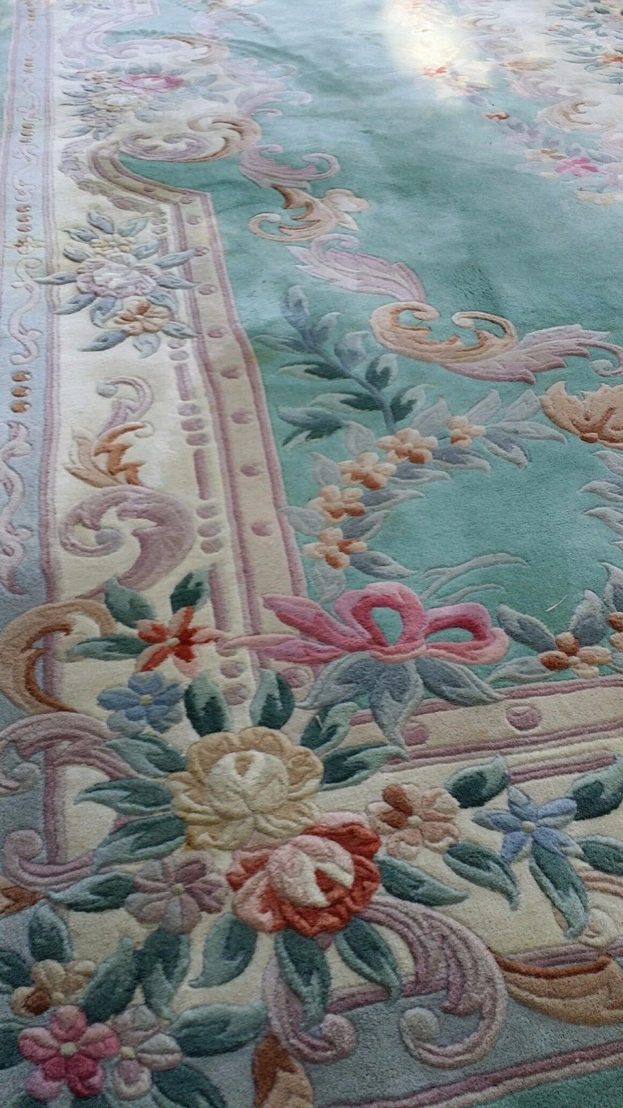 Chinese Aubusson Hand Knotted Oriental Rug 8 11x11 9 Rugs On Carpet Shabby Chic Rug Victorian Rugs