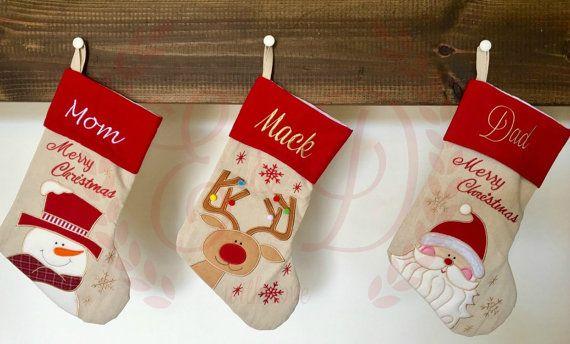 Personalized Christmas stocking , monogrammed christmas stocking , custom christmas stocking , personalized stocking