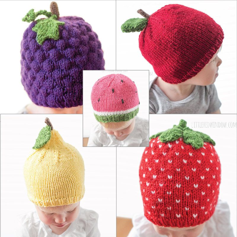 Knitting Patterns for Fruit Baby Hats - Knitting patterns for grape ...