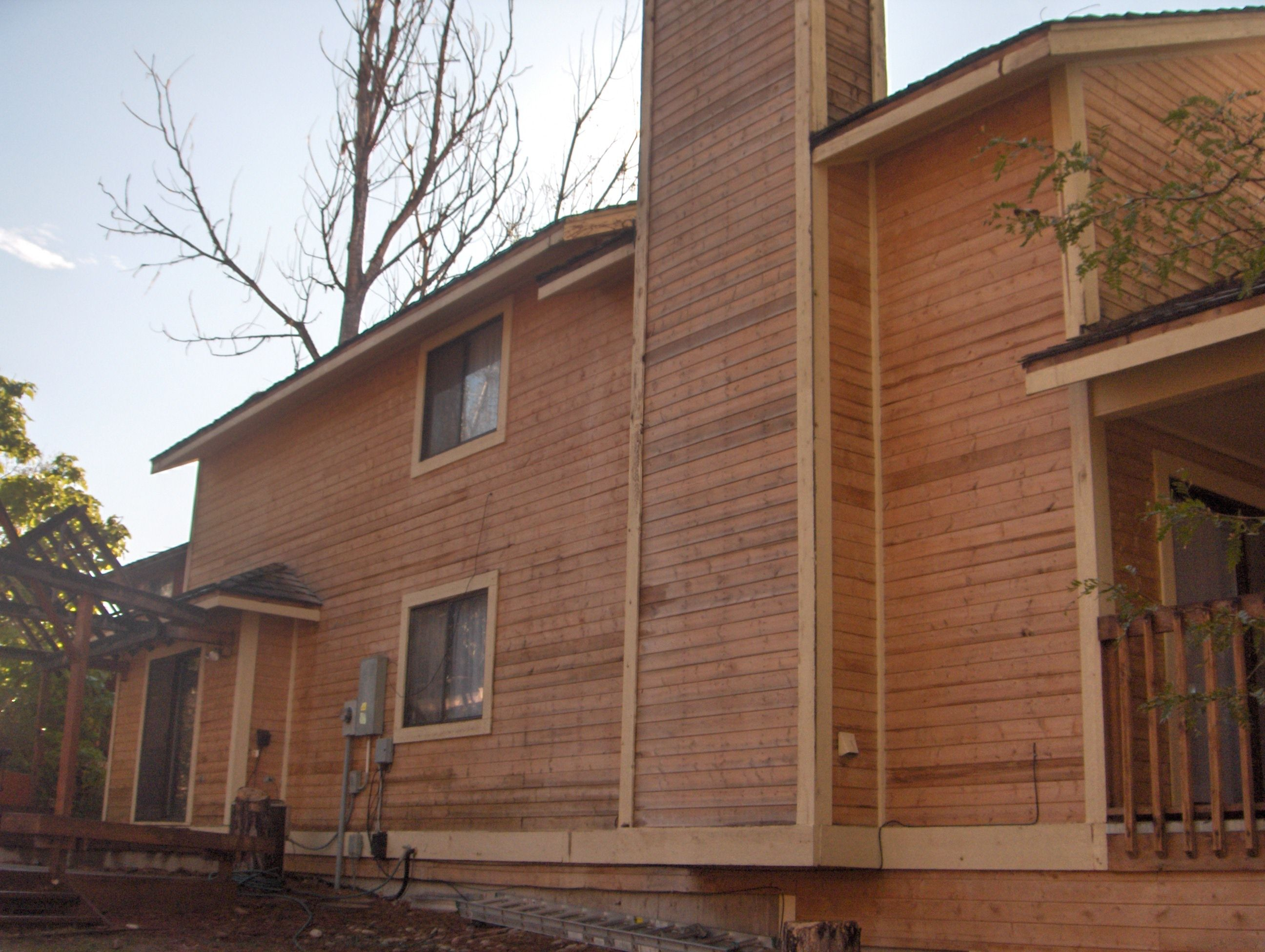 exterior wood siding stain   Stained wood on the exterior ...