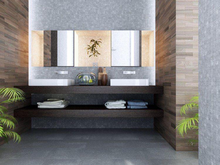 Meuble Double Vasque De Design Moderne En 60 Exemples Deco Salle De Bain Salle De Bain Design Salle De Bain Deco Zen