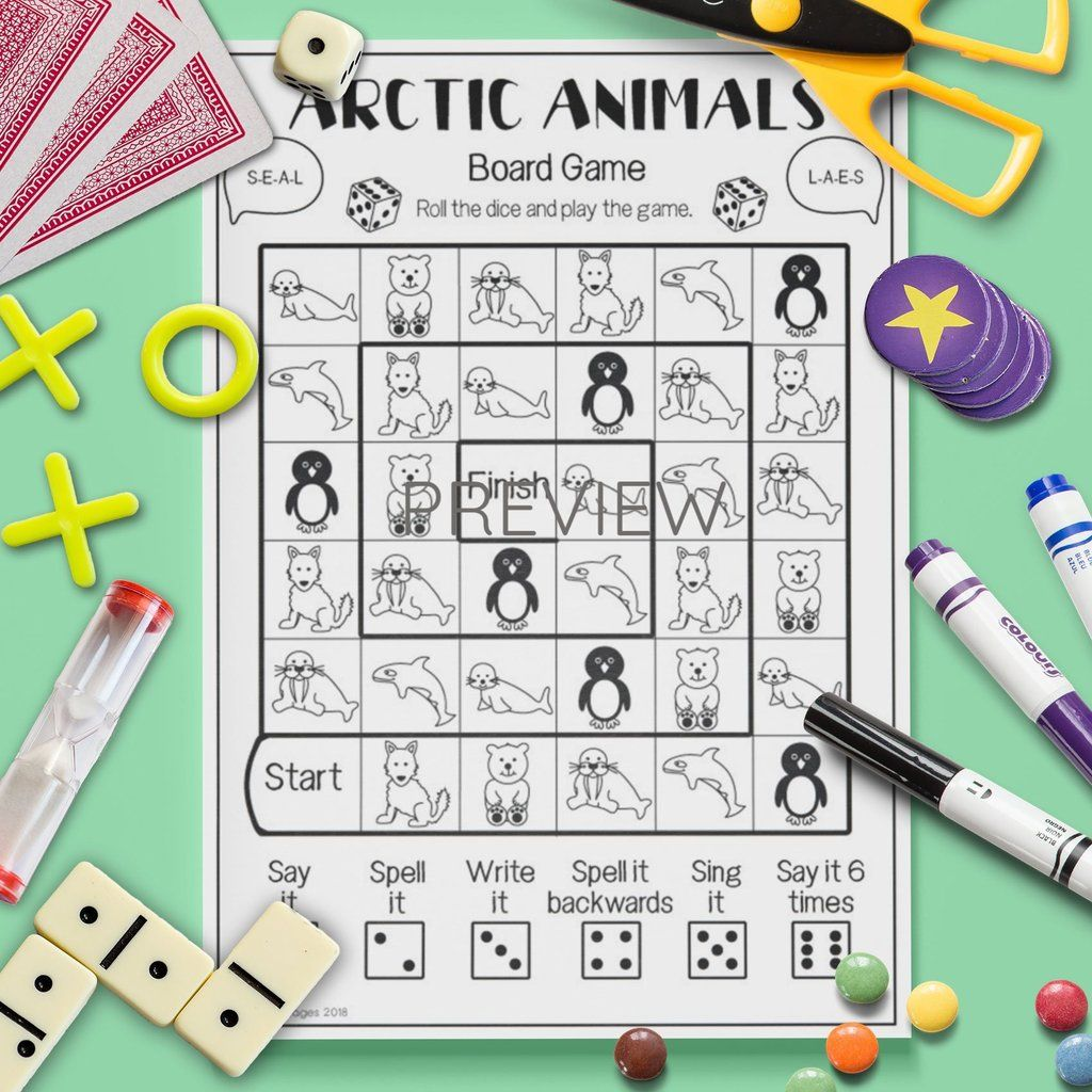 Arctic Animals Board Game
