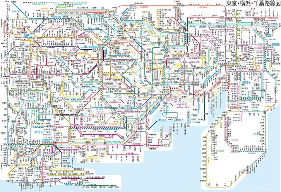 Tokyo Train And Subway Map.Tokyo Yokohama Chiba Subway Map Japan Tokyo Subway Train Map