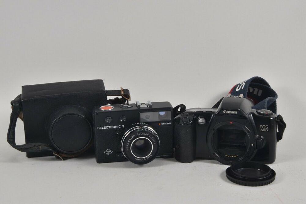 Ebay Sponsored F02a21 2x Alte Fotokamera Agfa Selectronic S