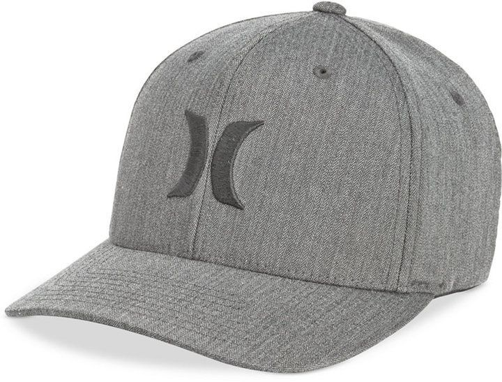 half off b273a f27ee Hurley Men s One And Only Texture Flexfit Logo Hat