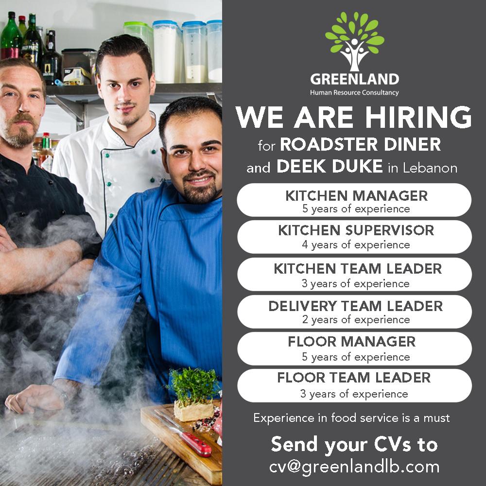We Are Hiring For Roadster Diner Deek Duke In Lebanon Kitchen Manager Kitchen