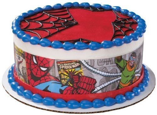 Spiderman Edible Cake Border Decoration By A Birthday Place 449