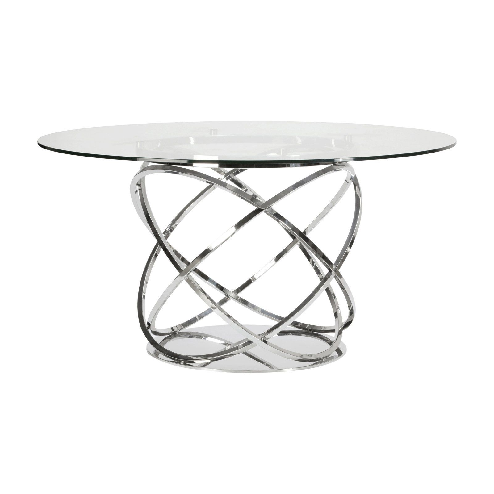 Lievo Orbit Round Dining Table Traditional Dining Tables Metal
