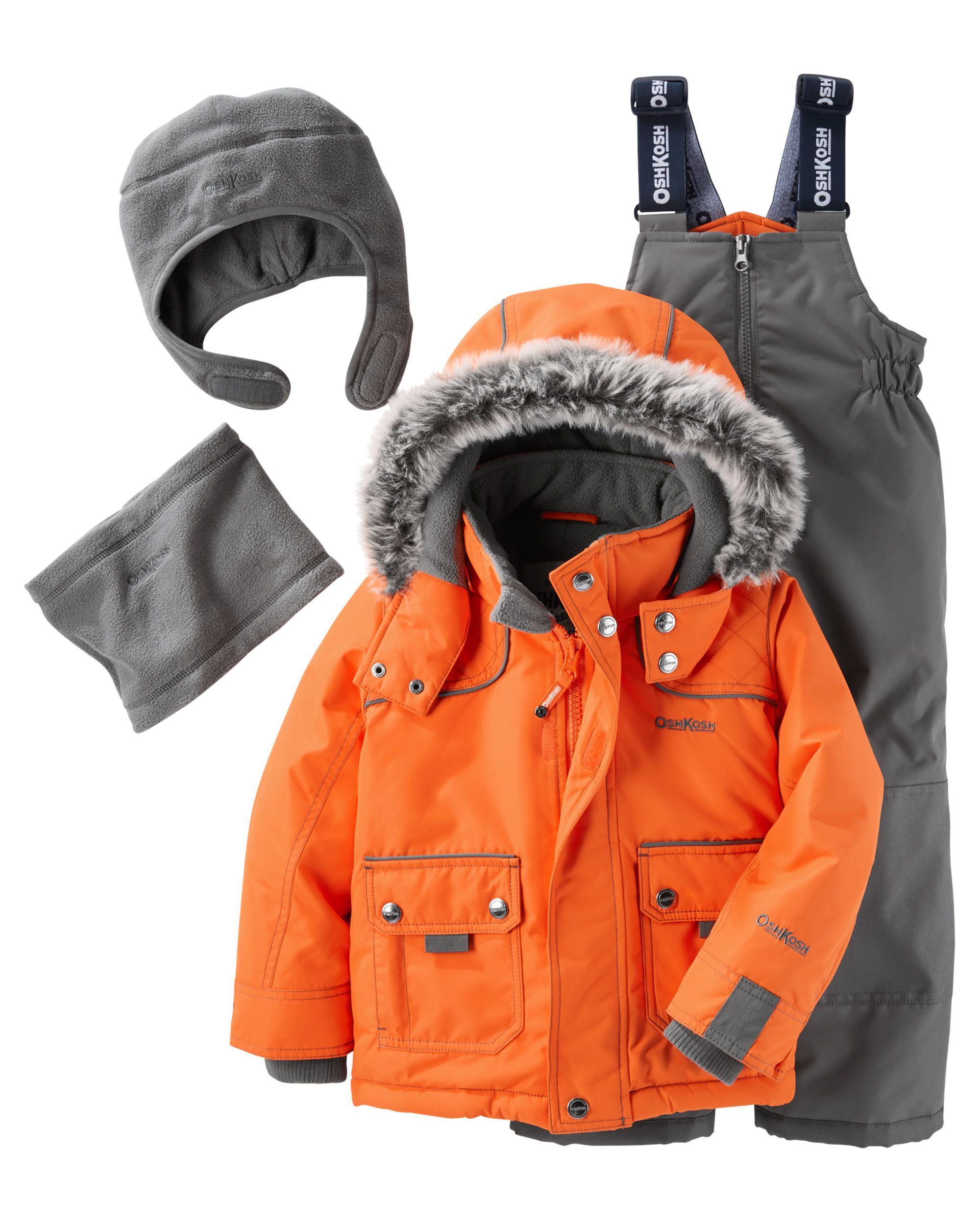 7088fd53a 4-Piece Fleece-Lined Snowsuit Set