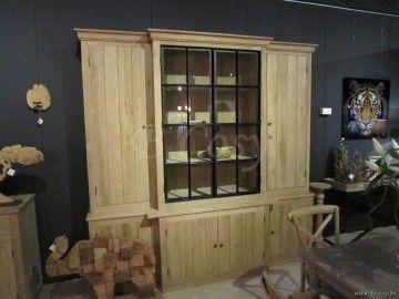 Vaisselier Interiors pr interiors alice eiken vitrine vitrinekast in weathered oak-eik