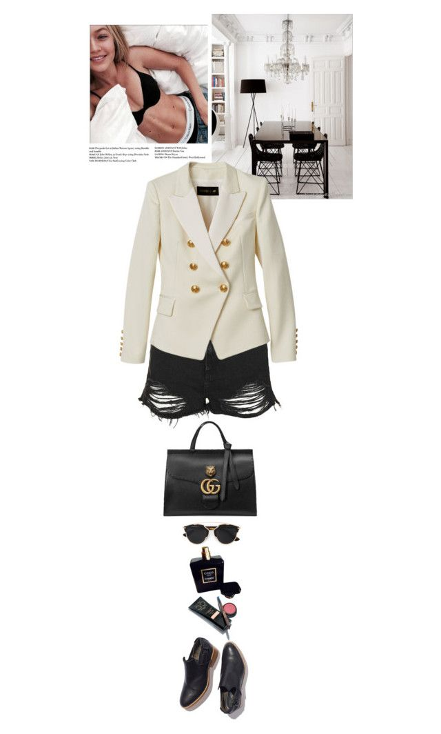 """Monday...ready to work?¡?"" by thehamptonsgirl ❤ liked on Polyvore featuring Topshop, Gucci, Victoria's Secret, Chanel, Christian Dior, Balmain, women's clothing, women, female and woman"