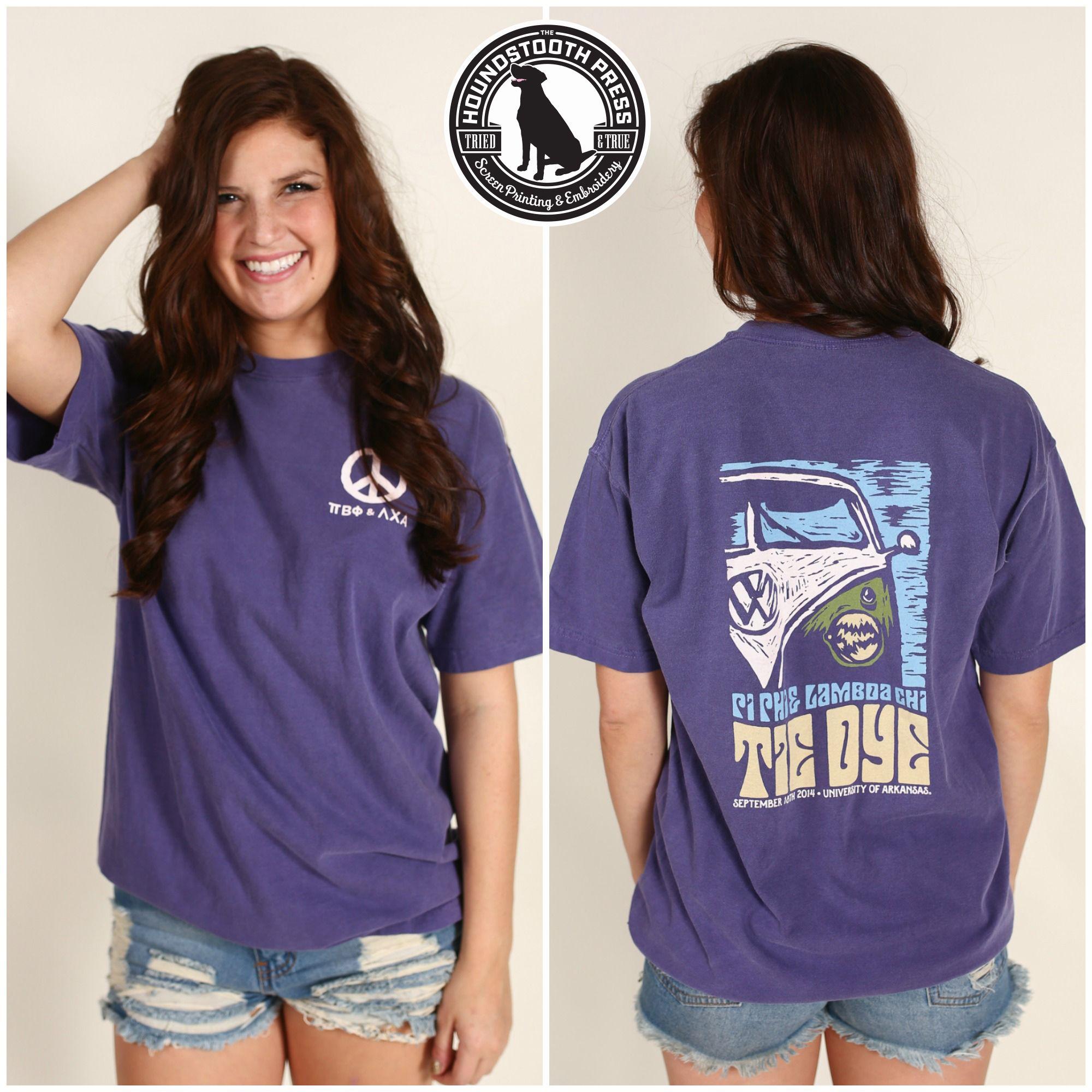 Design t shirt comfort colors - University Of Arkansas Pi Beta Phi Tie Dye Function T Shirt Comfort Colors