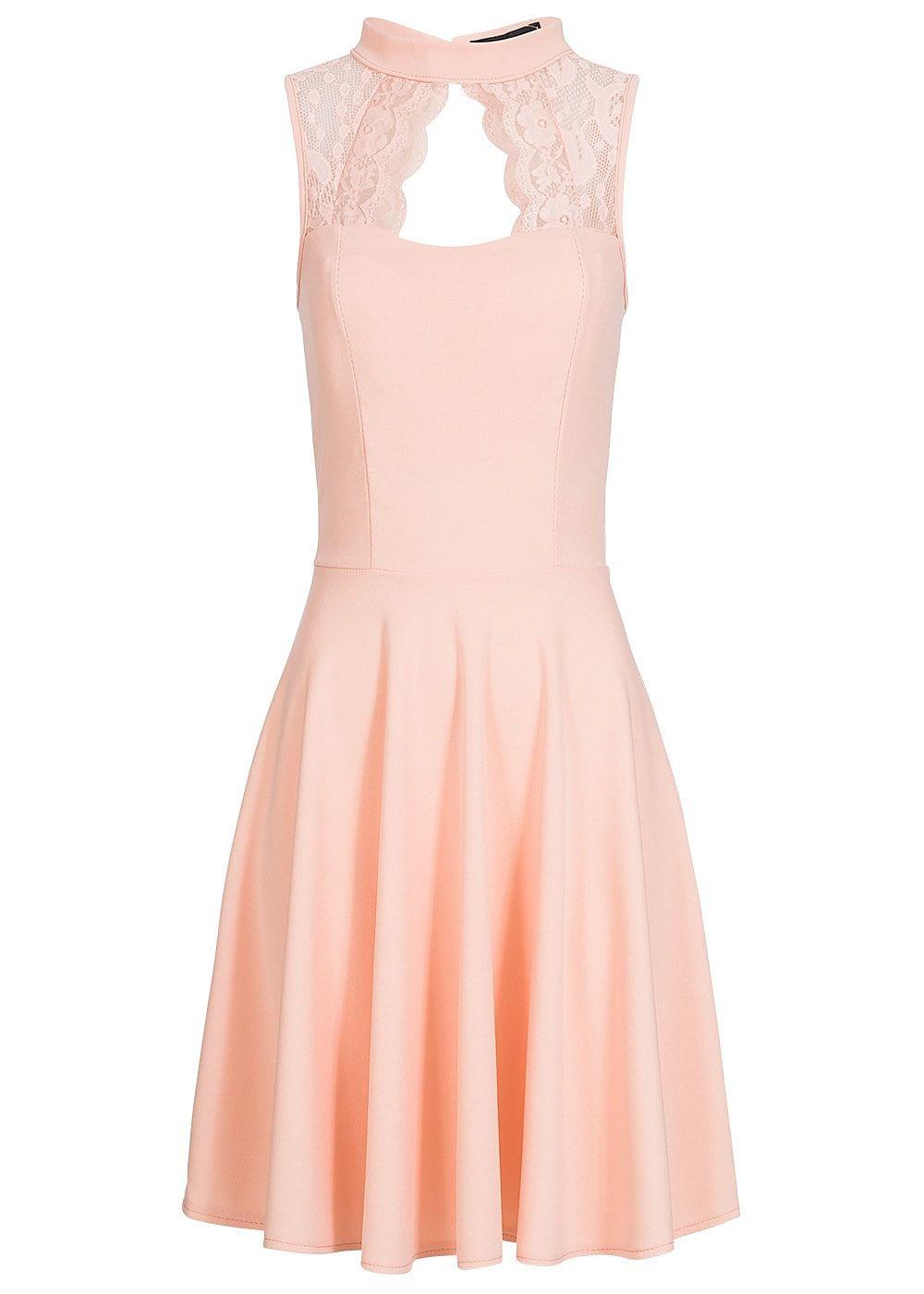 Styleboom Fashion Damen Kleid Spitze oben Brustpads rosa | Pinterest ...