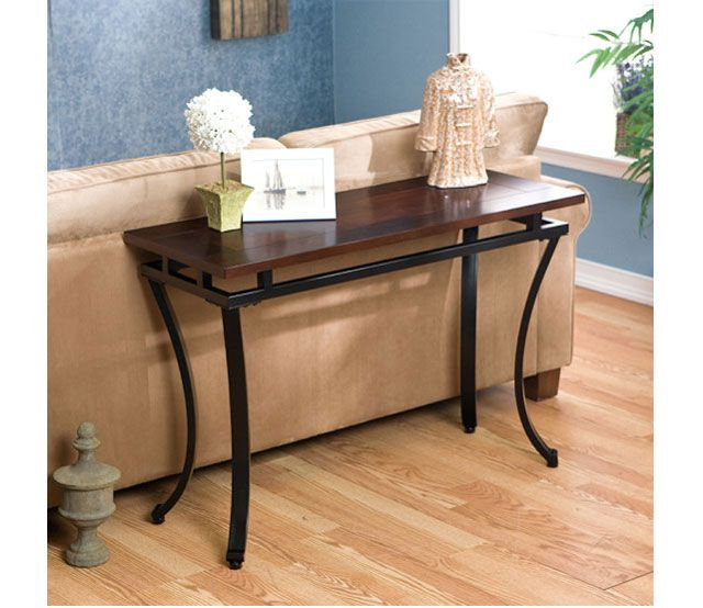 Modesto Sofa Table Rich And Curvaceous This Espresso Sofa Table Is A Wonderful Accent To Any Tr Furniture Black Living Room Table Traditional Console Tables