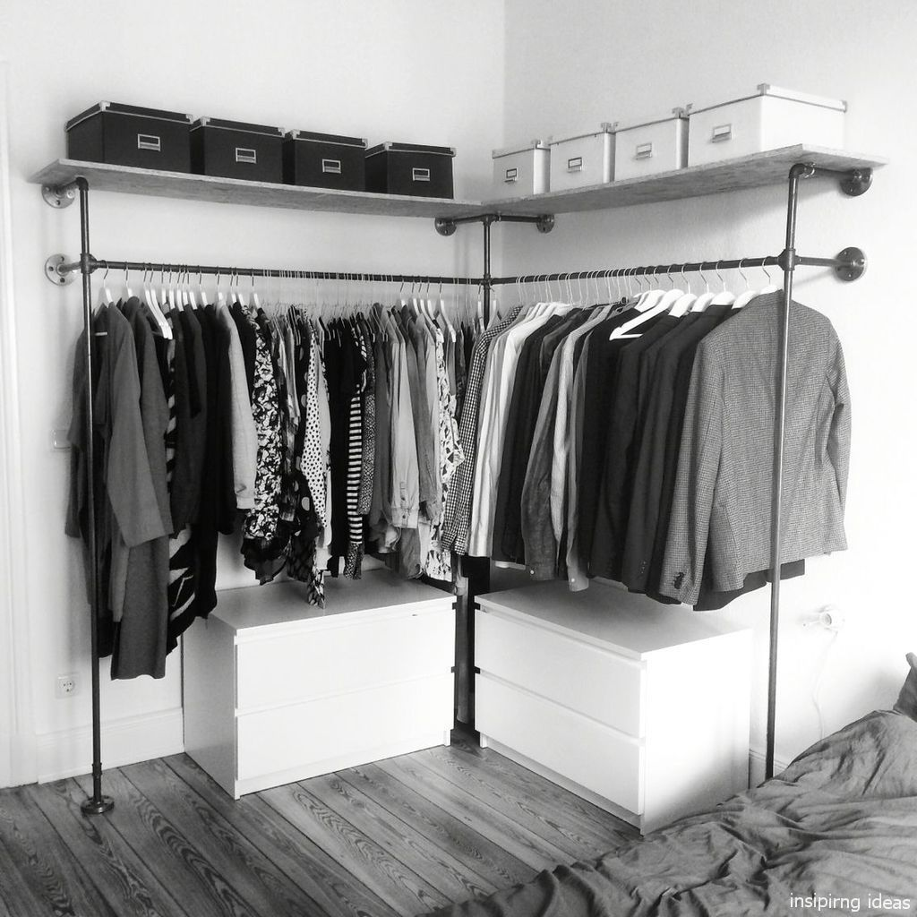 43 The Best DIY For Wardrobe That You Can Try Apartment