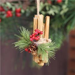 Christmas Cinnamon Stick Ornament Jkm Ribbon Christmas Decorations Rustic Tree Christmas Ornaments Christmas Decorations