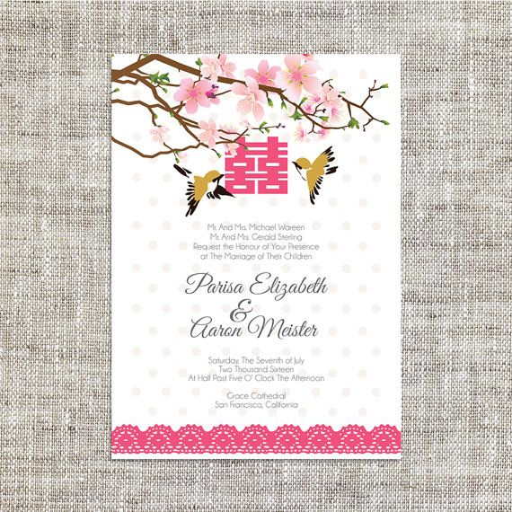 DIY Printable Editable Chinese Wedding Invitation Card by ImLeaf - invitation card formats