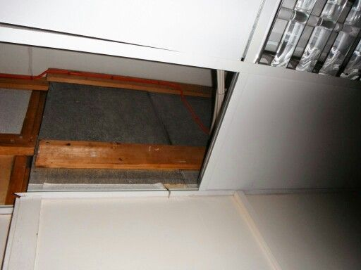 Belgian Board Panels These Boards Are Made From Wood Chip With An Veneer Of Asbestos Insulating Board The Asbestos Insula Suspended Ceiling Home Surveying