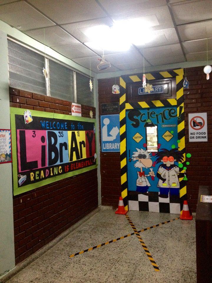 Laboratory Room Design: Science Fair. Mad Scientist Door Decoration.