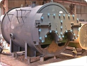 Solid Fuel Fired Boiler Is The Conventional Three Pass Smoke Tube
