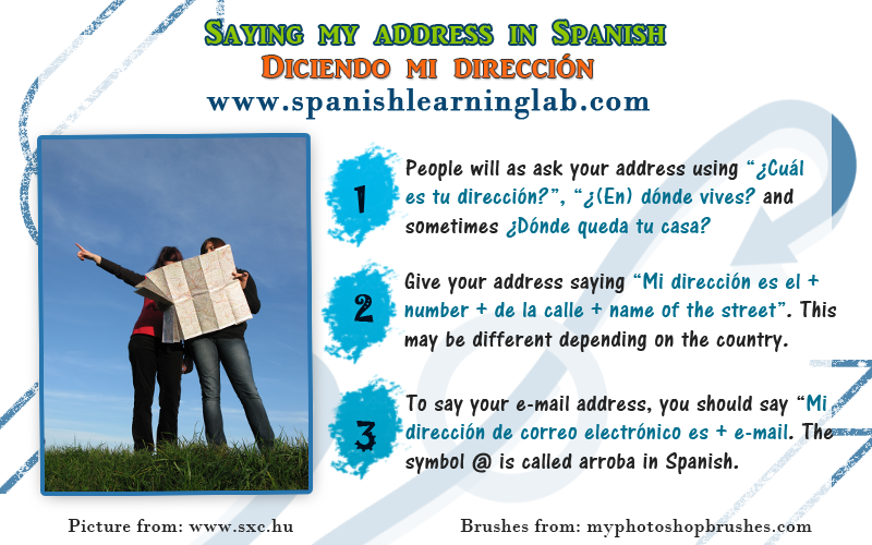 Saying your House and Email Address in Spanish | Aprender español, Español,  Clase de español