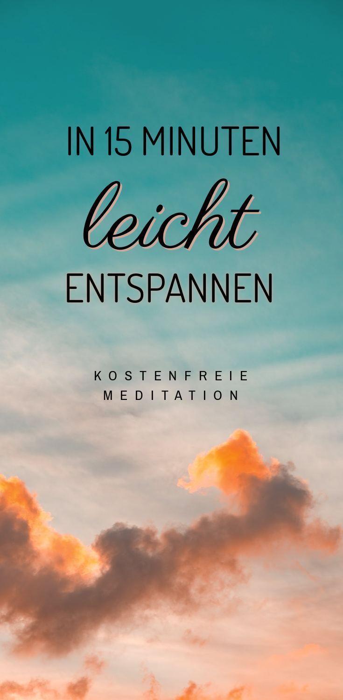 Geführte #Meditation in deutsch für Entspannung und Ruhe, kostenfrei #deutsch #Entspannung #Fitness...