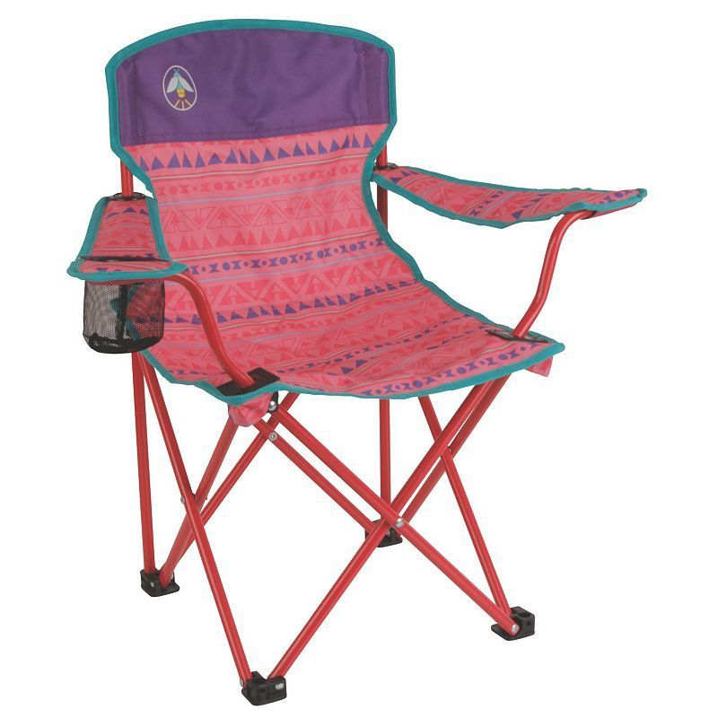 Kids Coleman Glow-In-The-Dark Quad Camping Chair, Pink