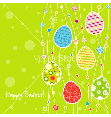 Template Easter Greeting Card Vector   By Tolchik On