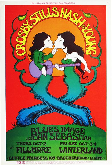 Crosby, Stills, Nash & Young - Fillmore West - San Francisco, CA - October 25, 1969 - by Greg Irons