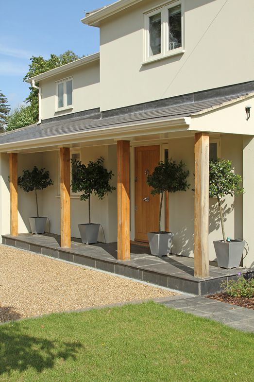 Idea for porch if door is at front and hallway is extended for Front porch extension ideas