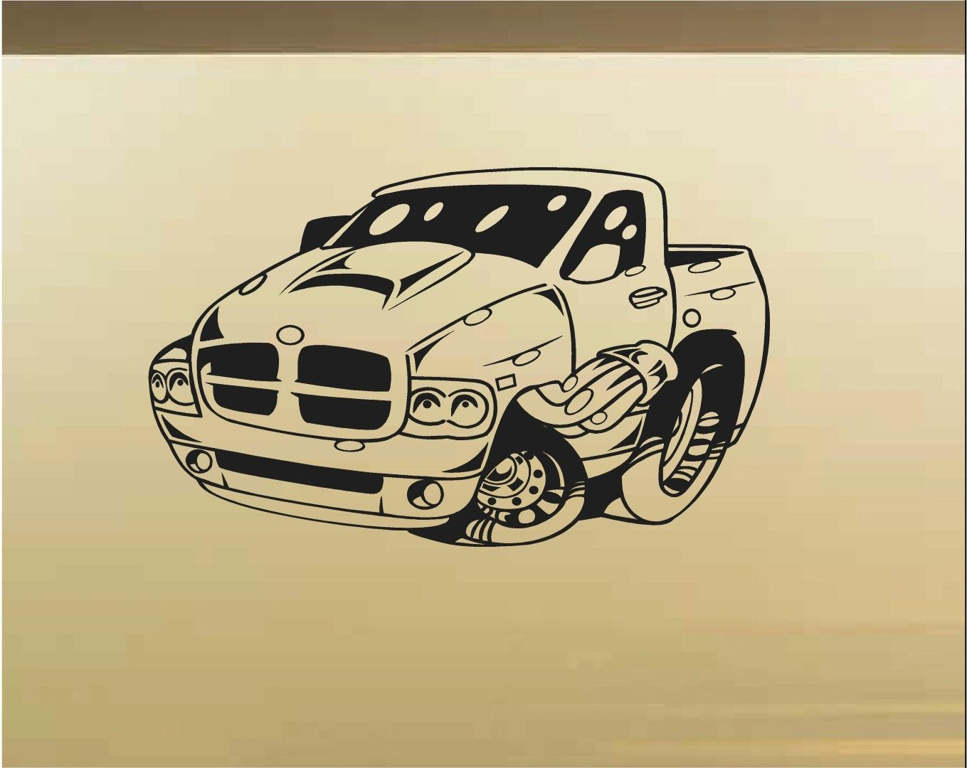 Dodge Truck Car Wall Decal - Auto Wall Mural - Vinyl Stickers - Boys ...