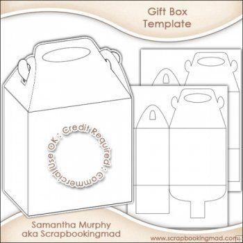 Gift Box Template | Templates | Pinterest | Gift box templates, Box ...
