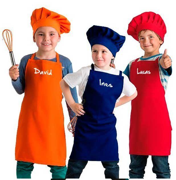 Delantales y gorros de cocina para ni os peque os que no - Delantales y gorros de cocina para ninos ...