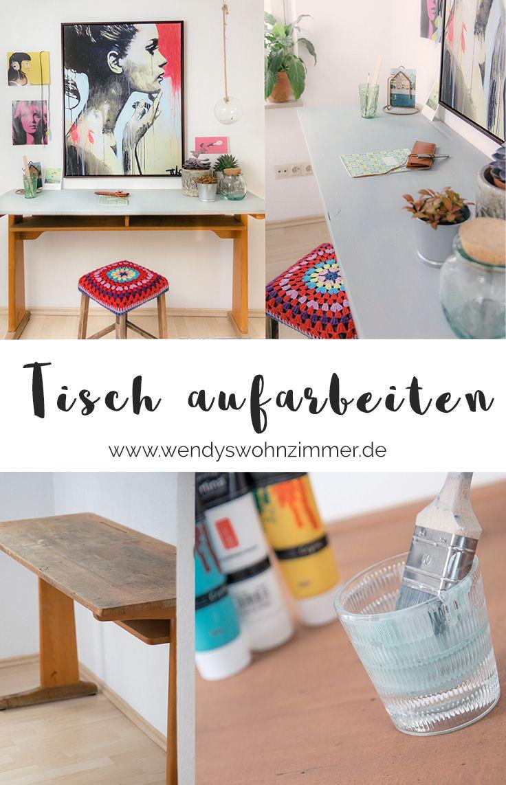 Alten Holztisch aufarbeiten & schöne Aussichten mit Posterlounge