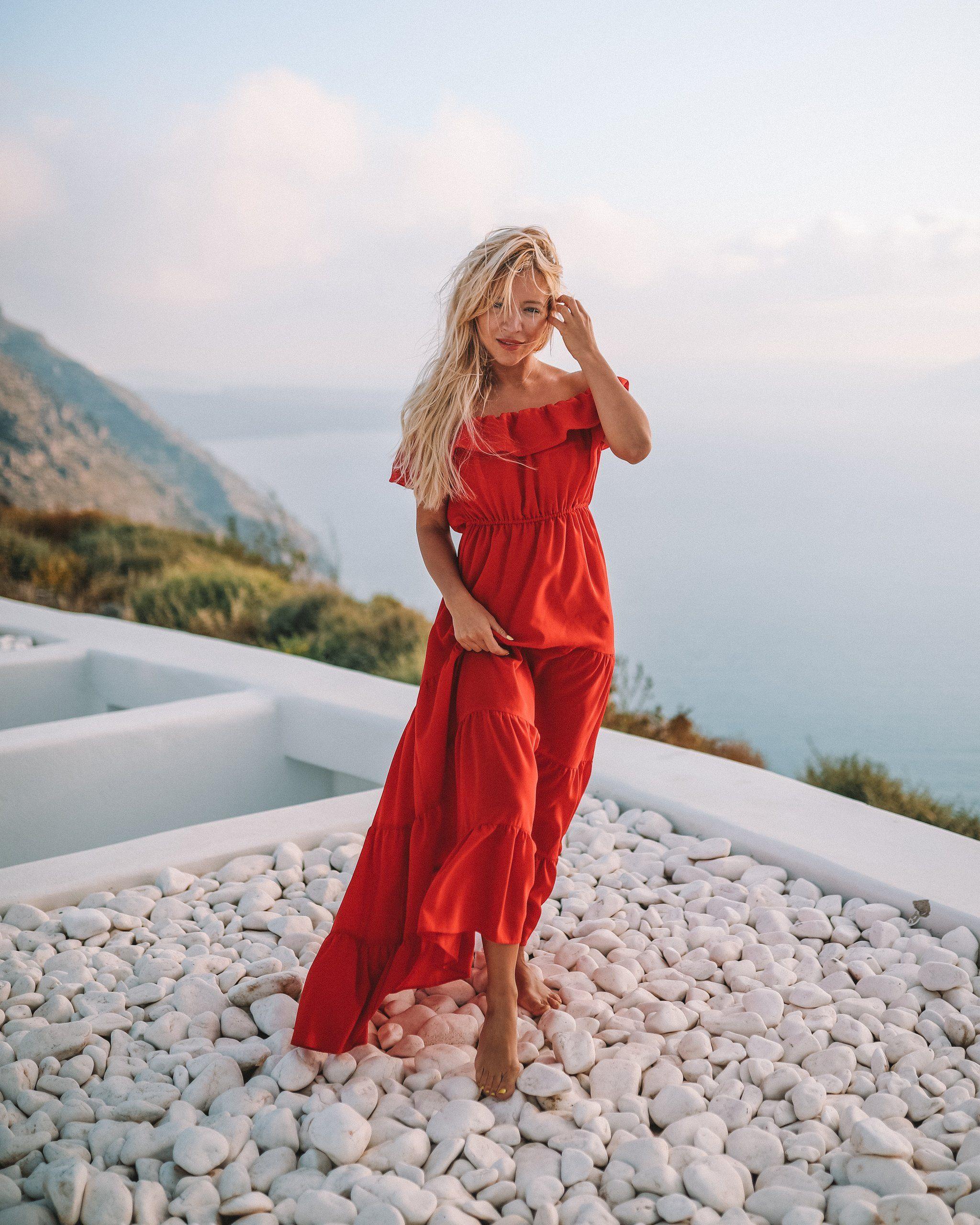 Latina Red Dress - Aggie Swimwear - Resort Wear